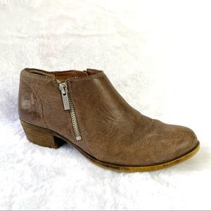 Lucky Brand Banda Distressed Brown Ankle Boot